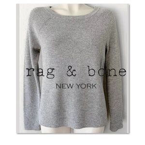 RAG & BONE MERINO WOOL GRAY CUFFED SWEATER SZ S